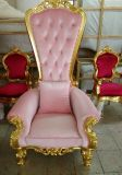 Throne Antique Classic Queen王の椅子の結婚式Bride&Bridegroom