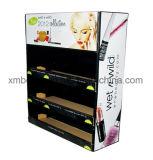 Soporte de visualización caliente de suelo de la cartulina de las ventas de Retial para el maquillaje de los cosméticos