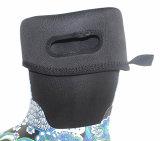 Ботинок дождя неопрена, ботинок дождя печати резиновый