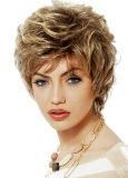 매력 꼬부라진 흑발 합성 가발 고전적인 여자 머리 가발 빨간 가발 방열 아프로 비꼬인 꼬부라진 가발 Peruca Branca