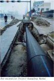 PE van de Watervoorziening PE100 van Dn125 Pn0.6 Pijp de Van uitstekende kwaliteit