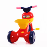 Tricycle bleu de roue du bébé 3 de couleur avec la fonction se pliante