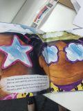 Livre coloré d'impression, livre attaché de livre À couverture dure d'enfants, Perpback,