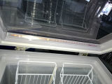 상단 두꺼운 거품이 이는 층 (SD-80가)를 가진 열리는 유리제 문 아이스크림 전시 냉장고