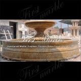 Fontana dorata Mf-1186 del granito della sabbia del giardino di pietra di marmo del granito