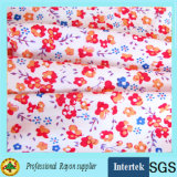 Le donne hanno stampato il tessuto di rayon del vestito dalla fabbrica della tessile