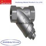 Válvula pneumática sanitária do assento do ângulo do aço inoxidável (carcaça da precisão)