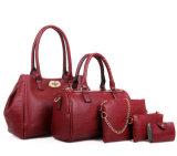 Le plus défunt grand sac en cuir d'unité centrale, dames en cuir réglées de sac à main de l'unité centrale 5in1 de luxe de mode