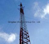 Riga torretta d'acciaio di Guyed della grata della torretta di telecomunicazione