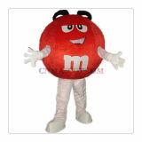 Traje da mascote dos doces de M&M popular para o uso do partido