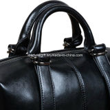 女性の型様式の本革の上のハンドルの十字ボディショルダー・バッグのハンドバッグ