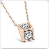Colar de cristal do pendente da forma da jóia da jóia do aço inoxidável (NK717)