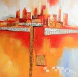 Абстрактная картина маслом ландшафта для украшения стены