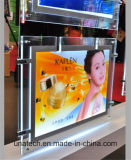 Montaje en pared LED de publicidad de la pantalla Crystal Light Box
