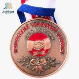 Personalizzare le medaglie in lega di zinco del trofeo di judo del metallo del medaglione dello smalto del bronzo del taglio di 76mm per il ricordo