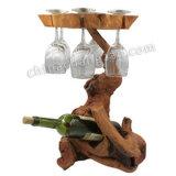 Racine en bois de nouvelle vente chaude de conception découpant le support de vin