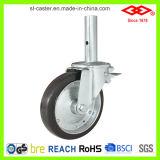 200mm 까만 고무 비계 피마자 바퀴 (C150-11F200X45S)