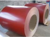 (0.14mm-0.8mm) PPGIのカラーによって塗られた鋼鉄コイルはまたは鋼鉄コイルに電流を通した