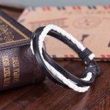 Il nero caldo del braccialetto di Cowmade dell'annata di modo di vendita e commercio all'ingrosso Handmade del Brown