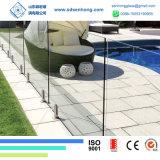 10mm 3/8 verre trempé inférieur clair de fer pour la clôture de piscine