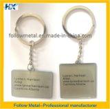 Het promotie Metaal Keychain van de Douane met Druk en Epoxy