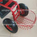 円形のバスケットが付いている頑丈で調節可能なトラクターの庭Scoot