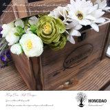 Doos van de Gift van de Verpakking van de Prentbriefkaar van het Album van de Foto van Hongdao de Houten met de Voering _E van de Douane