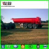 3 차축 60 톤 판매를 위한 유압 끝 덤프 트레일러