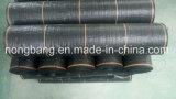 Plástico 90GSM UV preto tecido