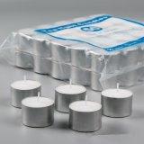 Bougie de tealight blanc 8 heures avec support en aluminium