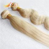 モンゴルの人間の毛髪の拡張ブロンドの薄い色のよこ糸