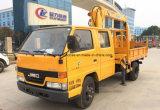 6개의 바퀴 Jmc는 XCMG 기중기로 두 배 택시 기중기 트럭 2 톤 거치했다
