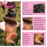 Extensões brasileiras do cabelo humano de Ombre do cabelo do Virgin