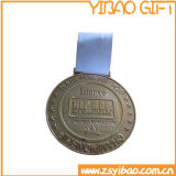 Médaille faite sur commande de souvenir en métal de qualité avec la lanière (YB-m-019)
