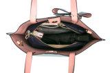 Sacchetti di tote doubble delle signore del cuoio di strato di alta qualità alla moda di bowknot