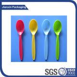Colher de plástico descartável colorida Customizd