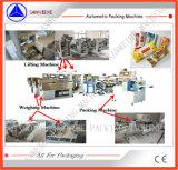 Maquinaria de peso e de embalagem do macarronete inteiramente automático