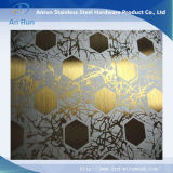 L'acier inoxydable de qualité a repéré la plaque pour la décoration