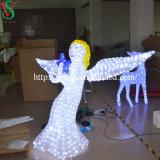 Ange de la lumière de décoration de vacances