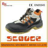 Zapatos de seguridad de la marca de los zapatos de seguridad de la inyección de la PU para los hombres