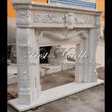 Binnen Marmeren Open haard mfp-1026 van Carrara van het Graniet van de Steen Witte
