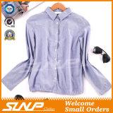 Frauen-Form-Kleid-Damen gesponnenes Hemd