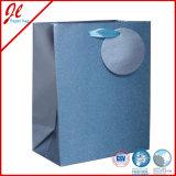 O presente de prata do holograma dos sacos de papel de qualidade de Glister ensaca sacos do presente da folha com Tag de suspensão