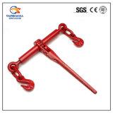 Type peint rouge en acier modifié de rochet cahier de chargement avec des crochets