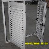 Guichet de tissu pour rideaux de profil de couleur de qualité et obturateur en aluminium Kz088 de tissu pour rideaux enduits par poudre blanche