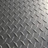 1050 1060 1100 3003 5052 plaque en aluminium de bande de roulement de 5 barres