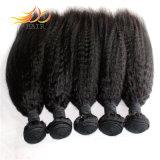 卸し売り高品質の毛のよこ糸のねじれたまっすぐなペルーのバージンの毛のよこ糸