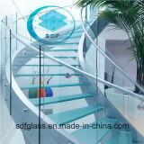 세륨, ISO를 가진 박판으로 만들어진 Glass Stairs