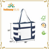 12 oz Blue Strip Design Vente en gros Custom Canvas Canvas Tote Bag