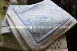 編む100%の純粋な綿の印刷毛布(NMQ-CB011)